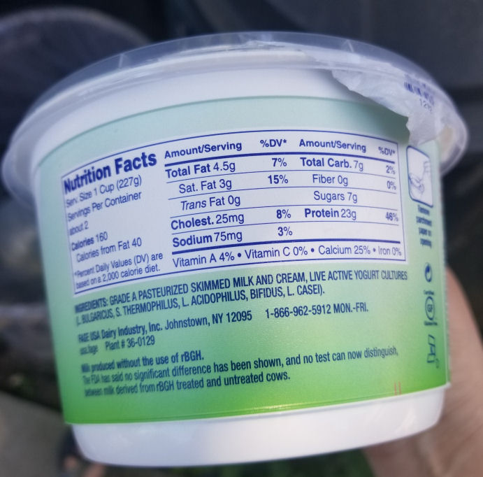 low fat plain greek yogurt ingredients