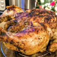Instant Pot whole chicken, tender juicy inside with crispy skin