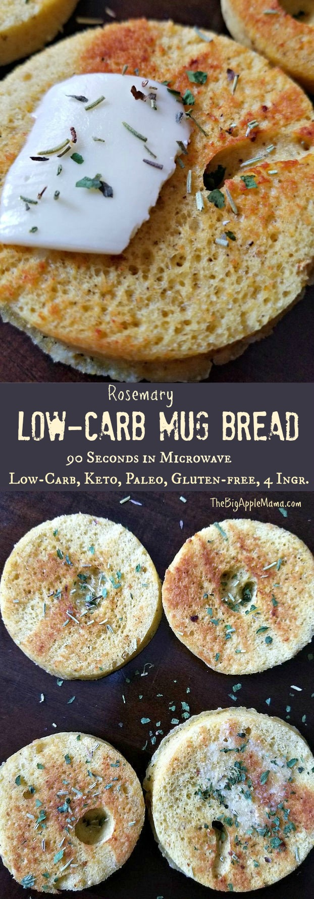 Best Low Carb Keto Mug Bread, 90 Seconds in Microwave