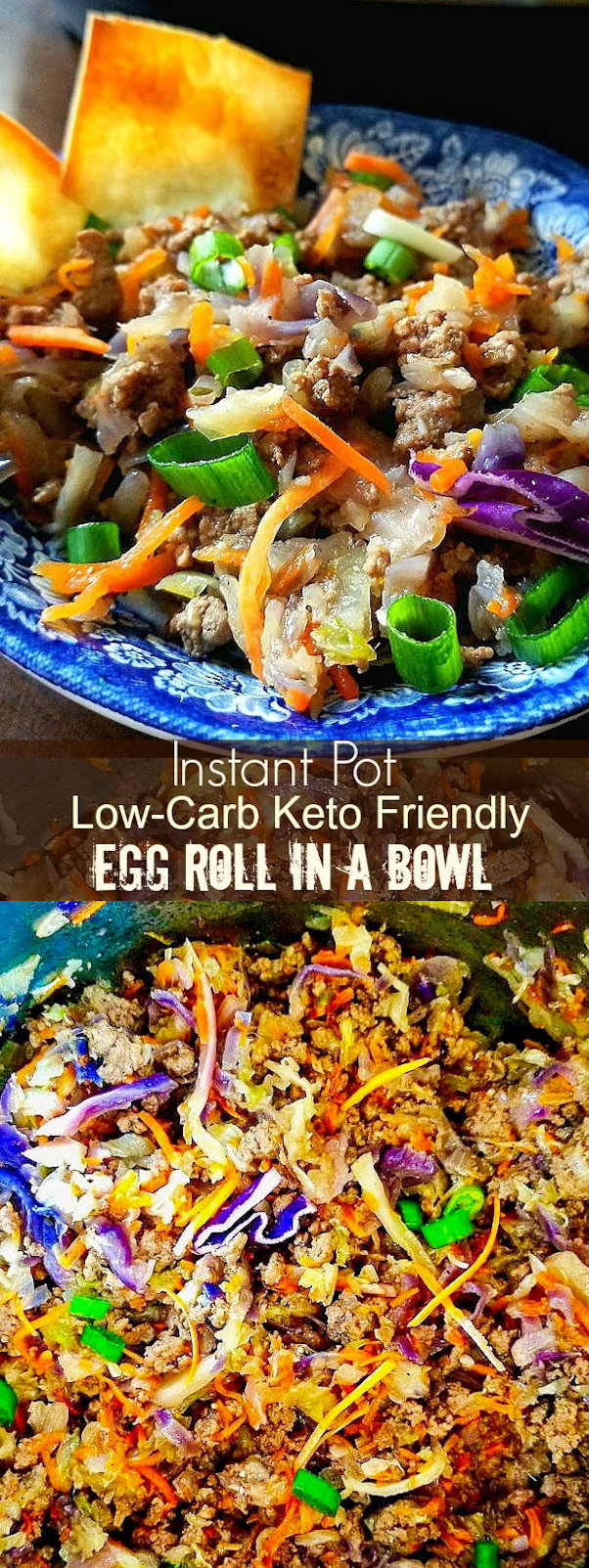 Instant Pot Low Carb Keto Friendly Egg Roll in a Bowl