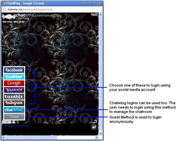 Chatwing chat software