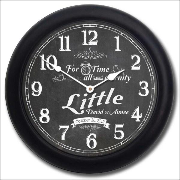 Chalkboard Wedding Clock Big Store