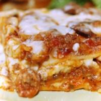 Turkey sausage, mushroom and truffle lasagna