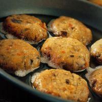 Mini eggplant and herb burgers