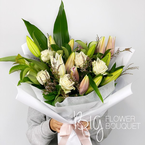 Flower Delivery Melbourne - The Big Flower Bouquet - Mother's Day Lily and Rose Bouquet - Same Day Flower Delivery - Mother's Day Gift