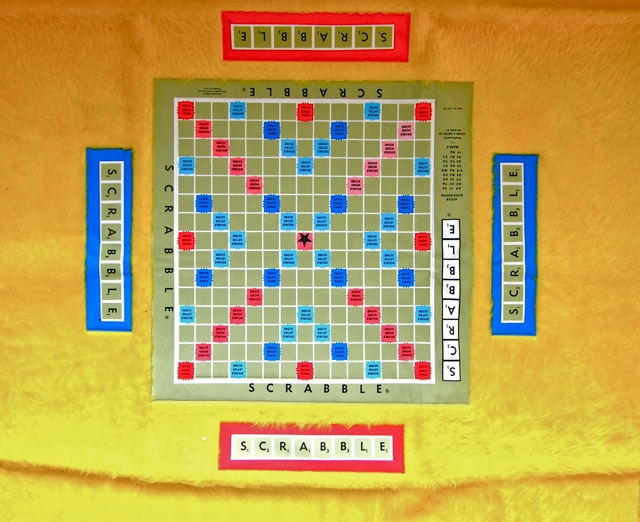 Scrabble Table Cover, Cloth With Vinyl Board Embedded