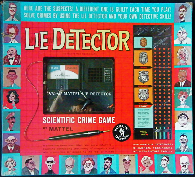 Lie Detector 1960 Mattel Mystery Theme The Big Game Hunter
