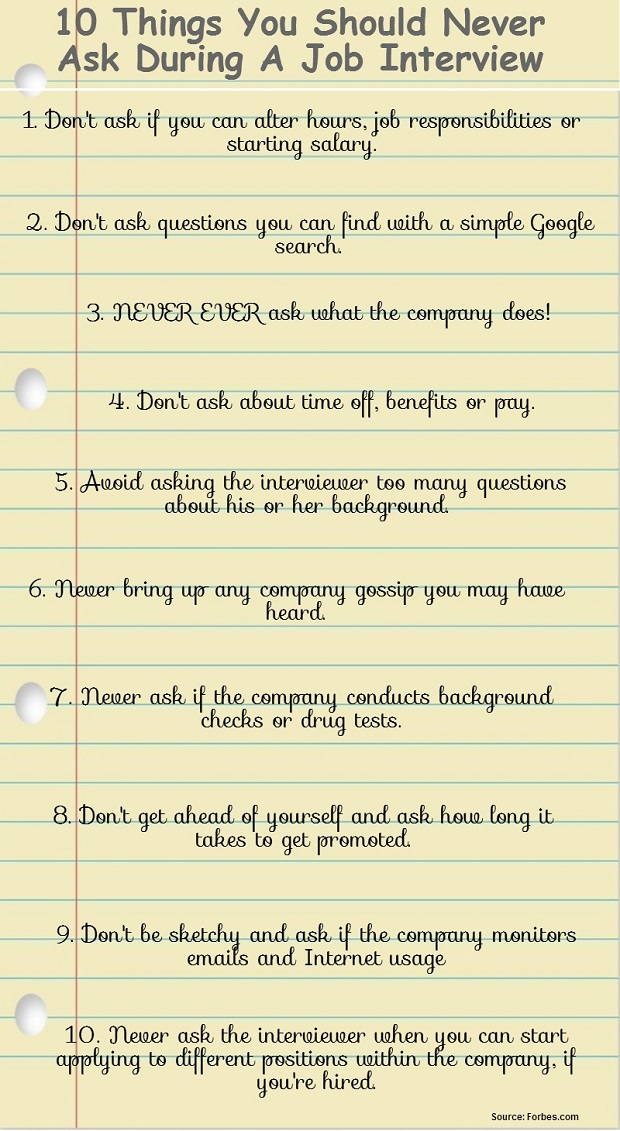 what to ask on an interview