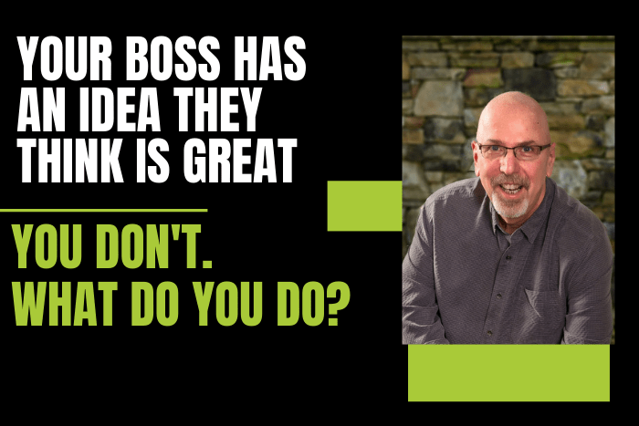Your Boss Has an Idea They Think is Great. You Don't Agree. What Do You Do?