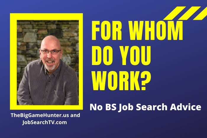 For whom do you work