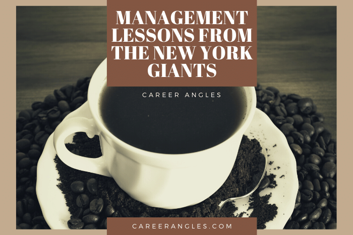 Management Lessons from The New York Giants