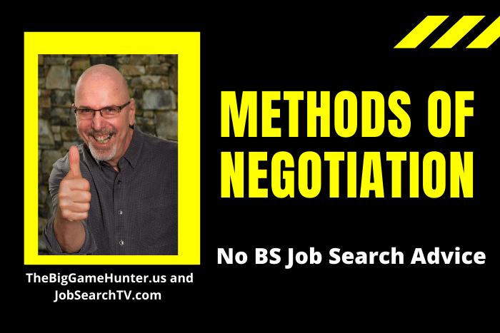Methods of Negotiation