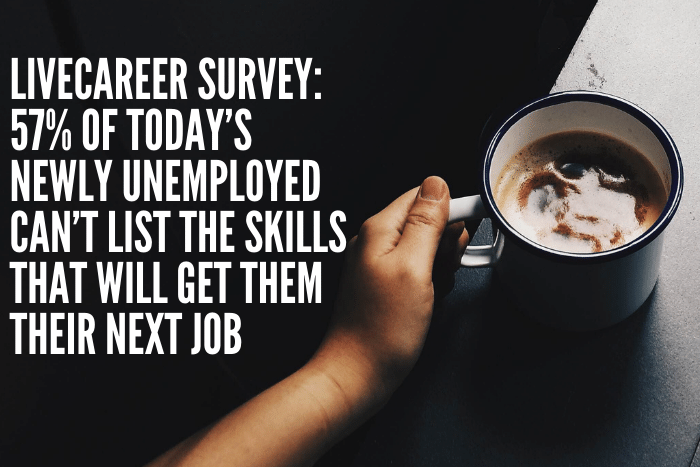 57% of Today's Newly Unemployed Can't List the Skills That Will Get Them Their Next Job