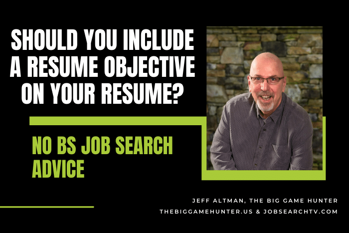 Should You Include a Resume Objective on Your Resume?