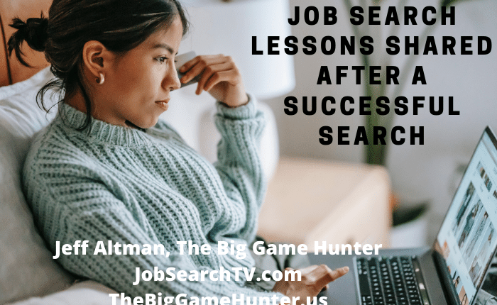 Job Search Lessons Shared After a Successful Search