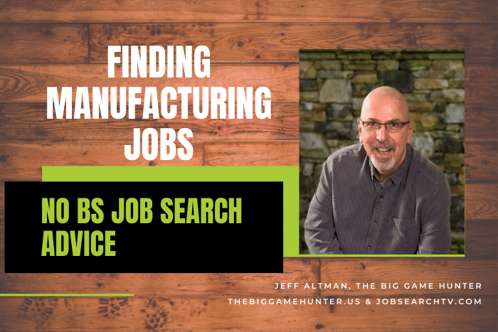 Finding Manufacturing Jobs