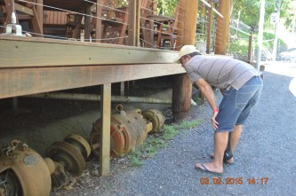 Tim checking out old equipment
