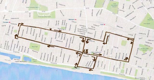 Hove School Bus Route