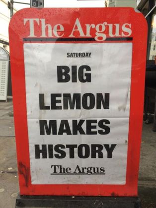 Big lemon makes History