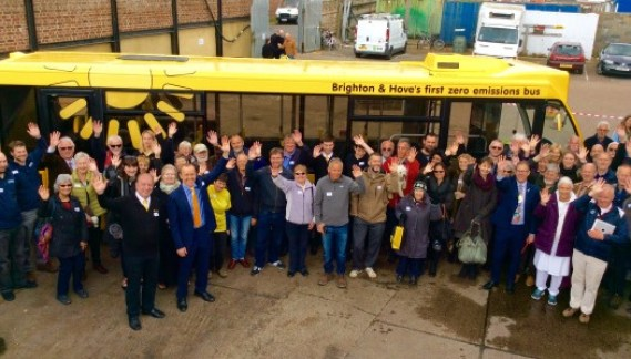 Waving Sponsors - Electric Bus Launch