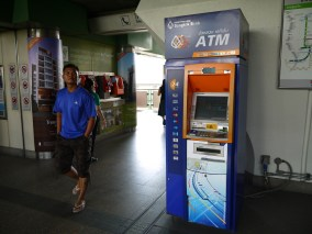 ATM on the skytrain