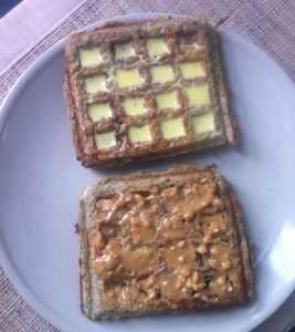Sea Salt Dark Chocolate Waffles (Grain Free, Gluten Free, High Protein, Sugar Free)