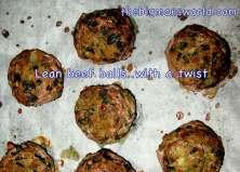 Lean beef meatballs (Gluten Free)