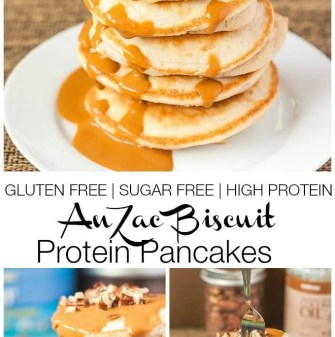 Anzac Biscuit Protein Pancakes- Gluten Free, Sugar Free and Grain Free- without sacrificing taste -thebigmansworld.com