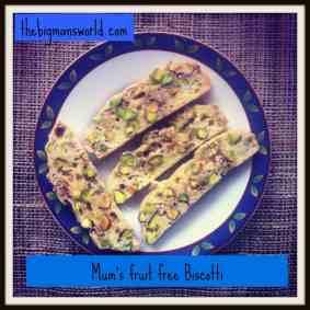 Mum's Fruit Free Biscotti (Gluten Free)