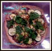 Pesto and Hot Sauce Pizza