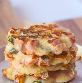 Healthy Sweet Potato and Cheddar Pancakes- High in protein, #glutenfree #lowcalorie and perfect for any meal! Super simple and high on taste! -thebigmansworld.com