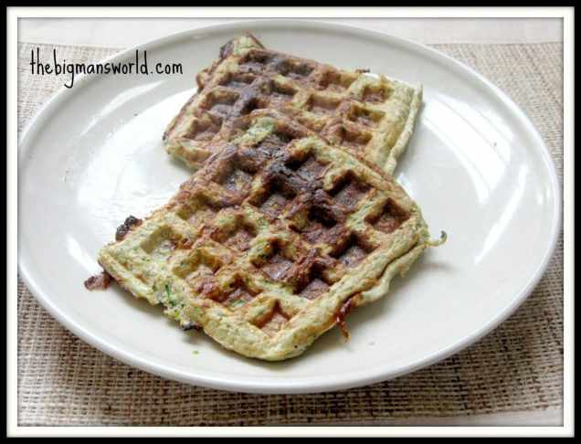 Pesto Parmesan Waffles (Grain Free, Gluten Free, High Protein, Sugar Free)