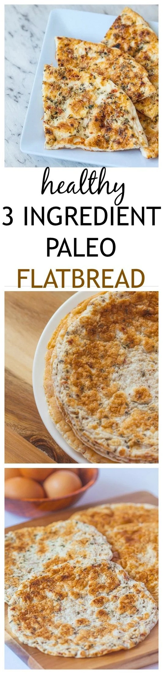3 Ingredient Paleo Flatbread- Just three ingredients are needed to make this paleo 'flatbread'- Perfect for those watching their carb intake yet craving something 'bread' like or a lighter vehicle to hold those wrap or sandwich fillings! @thebigmansworld - thebigmansworld.com