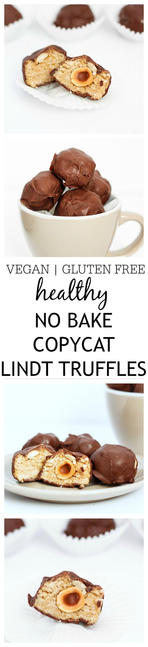 These copycat Lindt Truffles are the perfect treat to impress your guests without going to any effort! No bake, gluten free, vegan and a healthier (yet equally delicious!) spin on it's inspiration!  @thebigmansworld - thebigmansworld.com
