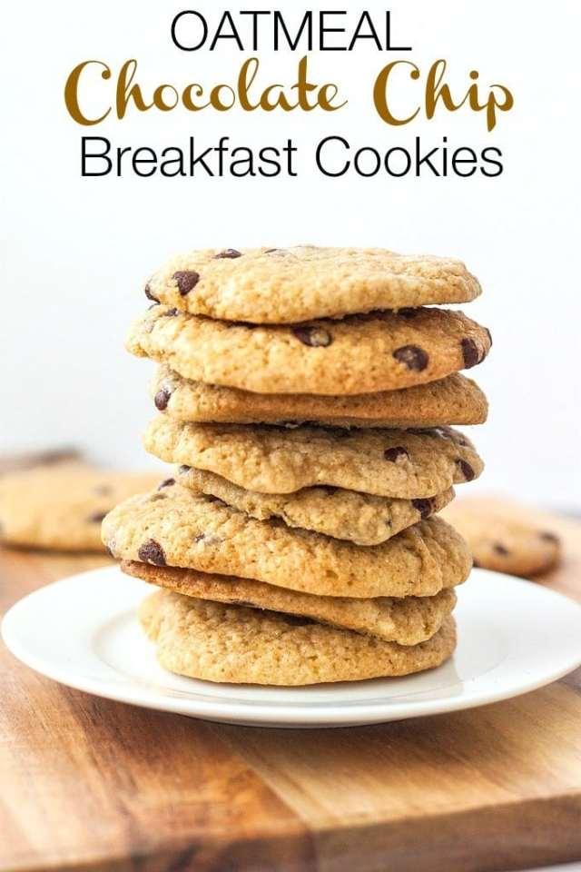 Oatmeal Chocolate Chip Breakfast Cookies- thebigmansworld.com