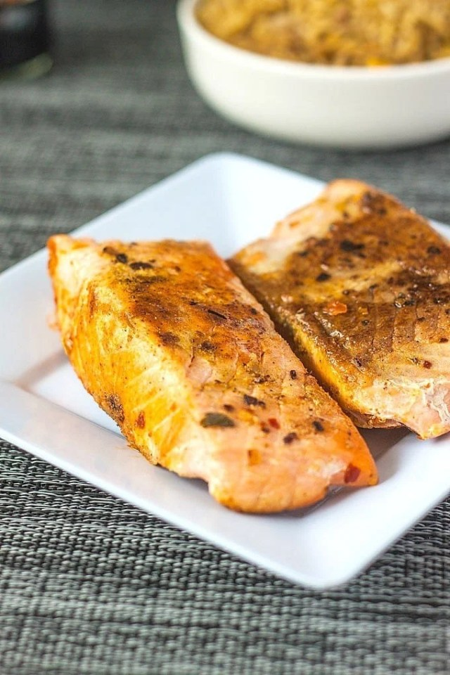 Smoked Paprika Salmon- Super simple and absolutely delicious salmon #recipe which is the quick, delicious meal! -thebigmansworld.com