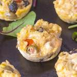 Healthy Brown Rice Pizza Muffins- These portable, easy and delicious muffins taste like pizza! Flourless, #glutenfree and high protein, these muffins are the perfect breakfast, meal or snack choice! -thebigmansworld.com @thebigmansworld.com