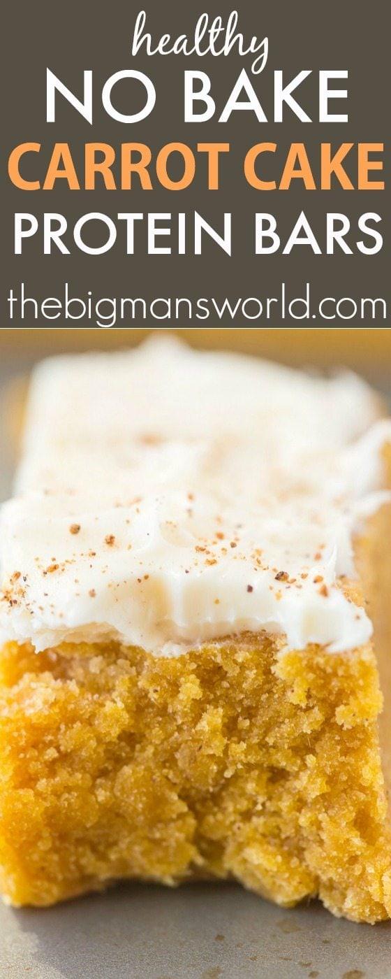 No Bake Carrot Cake Protein Bars Paleo Vegan Gluten Free