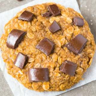 Healthy 1 Minute Giant Cookie For One (Paleo, Vegan, Gluten Free)