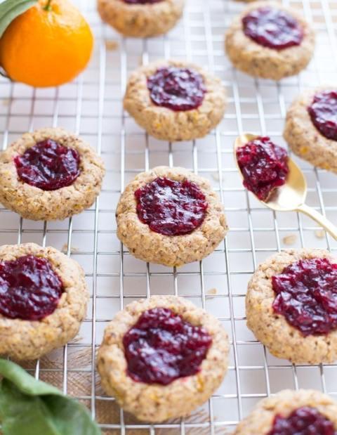 Cranberry Orange Thumbprint Cookies_