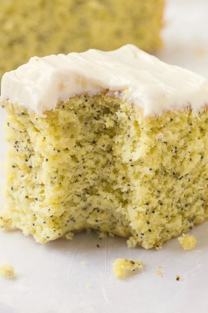 Lemon Almond Poppy Seed Cake Recipe
