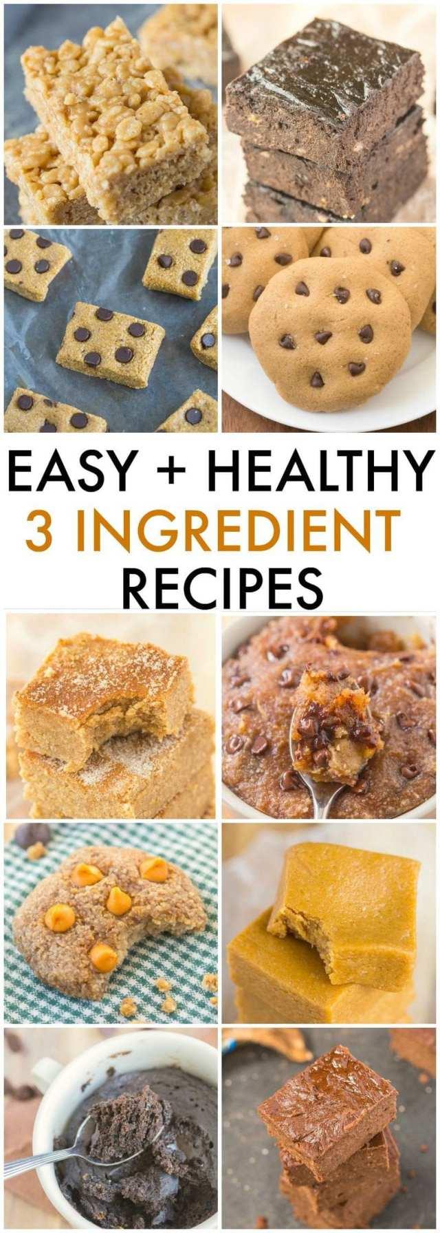 The Ultimate Easy and Healthy Recipes using just THREE ingredients- No nasties, no boxed mixes, nada- 100% delicious! {vegan, gluten free, paleo recipes}- thebigmansworld.com