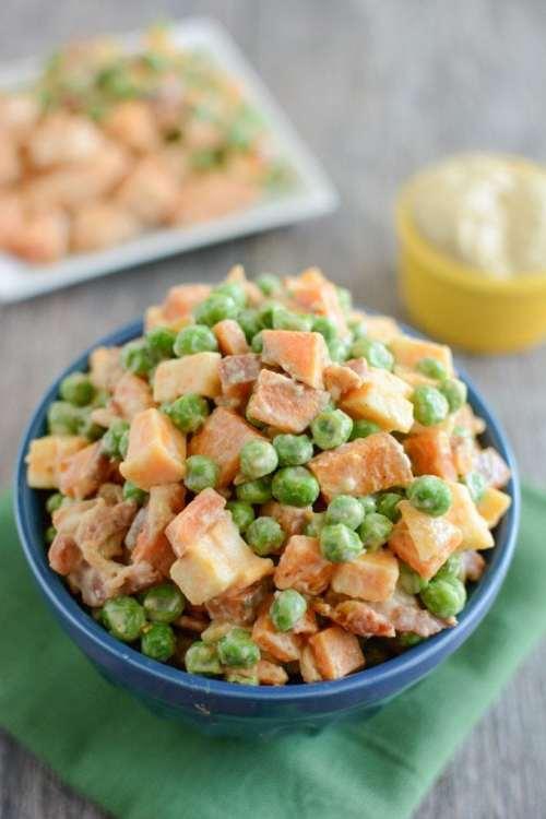 Pea Salad with Sweet Potatoes 1