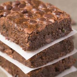 Healthy Flourless Zucchini Fudge Brownies