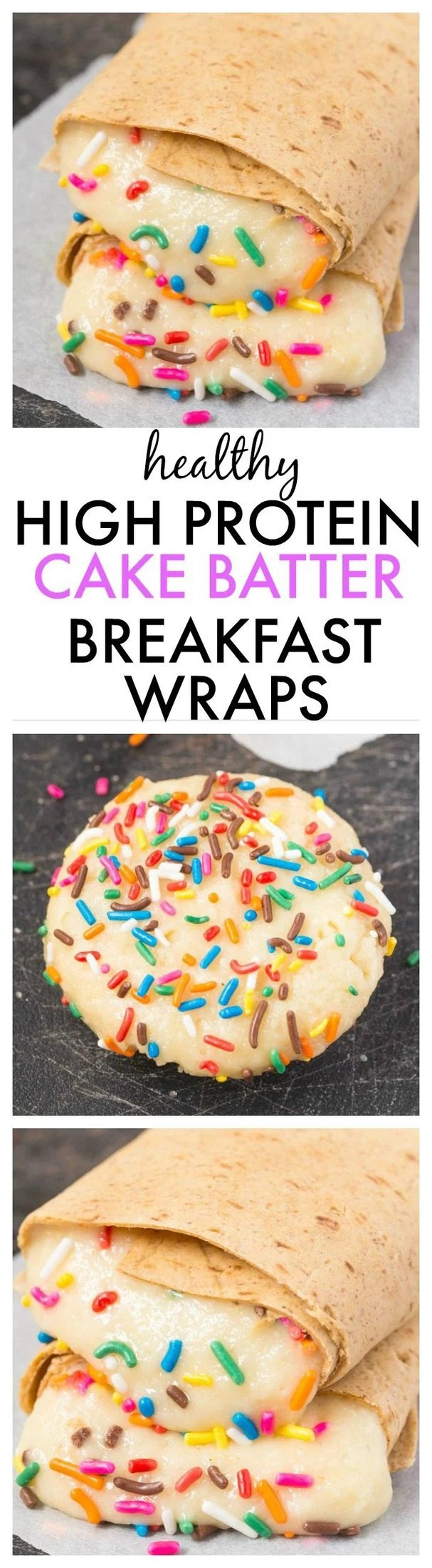 Healthy High Protein Cake Batter Breakfast Wraps which are low calorie, quick, easy and the filling is paleo, vegan, gluten free and refined sugar free! - thebigmansworld.com