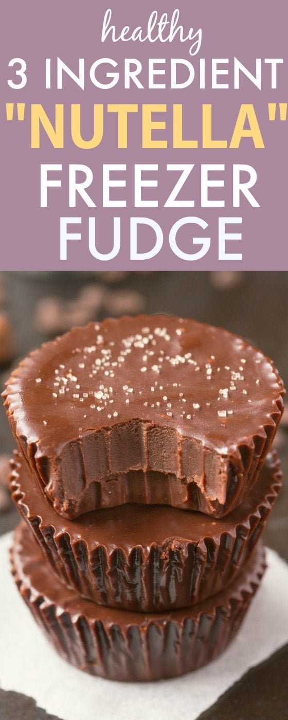Healthy 3 Ingredient 'Nutella' Fudge Cups- Smooth, creamy and melt-in-your mouth fudge which takes minutes and has NO dairy, refined sugar or butter but you'd never tell- A delicious snack or dessert! {vegan, gluten free, paleo recipe}- #keto #ketodessert #healthyrecipe #vegan #glutenfree #sugarfree | recipe at thebigmansworld.com