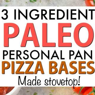3 Ingredient Mini Paleo Pizza Crusts (Low Carb, Grain Free, Gluten Free)