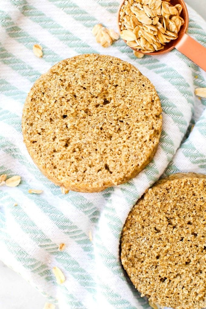 2 minute flourless english muffin two minute flourless english muffin perfect toasted and a bread alternative these crispy forumfinder Gallery
