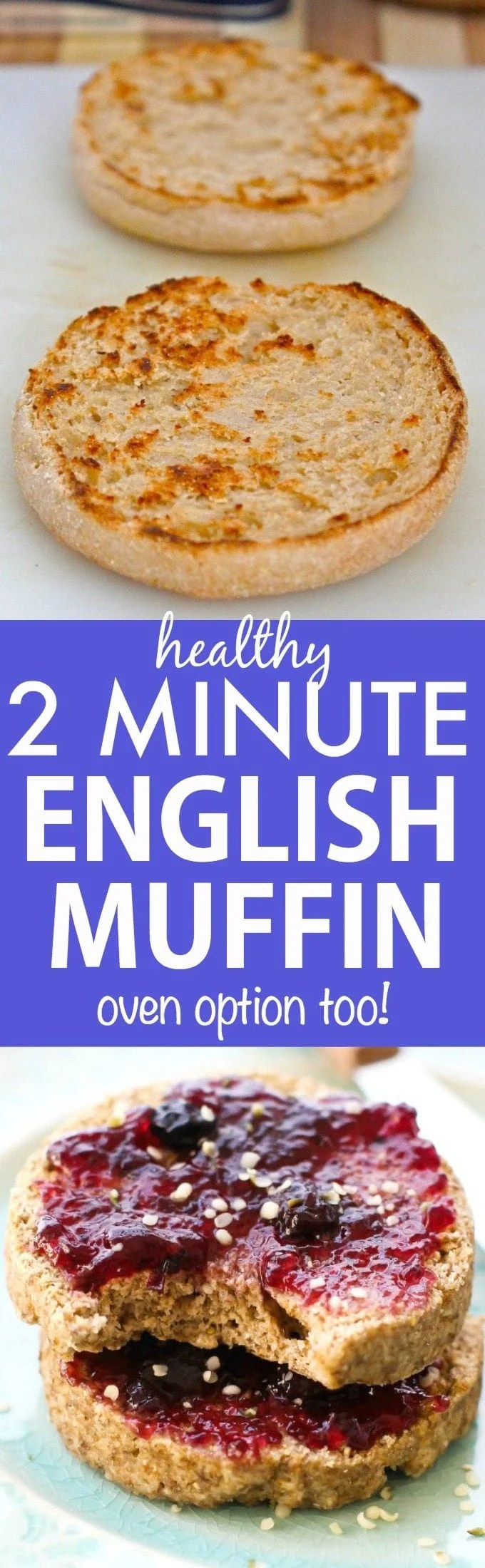 2 minute flourless english muffin two minute flourless english muffin perfect toasted and a bread alternative these crispy my other recipes forumfinder Gallery