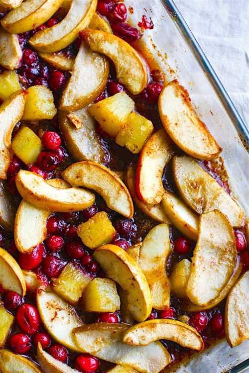 Hot Spiced Fruit Bake